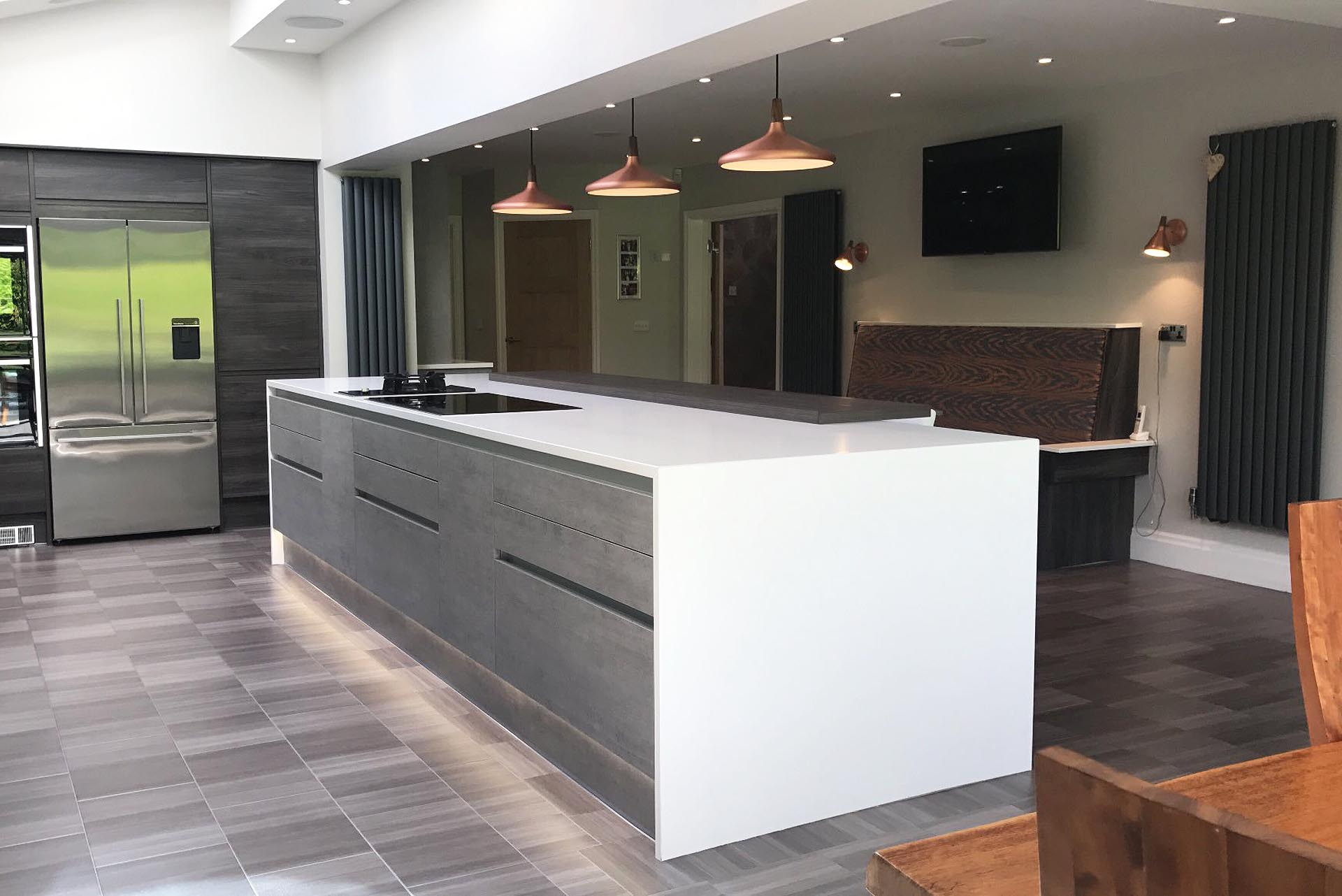 Burbidge Otto Concrete And Dark Elm Isala Kitchen